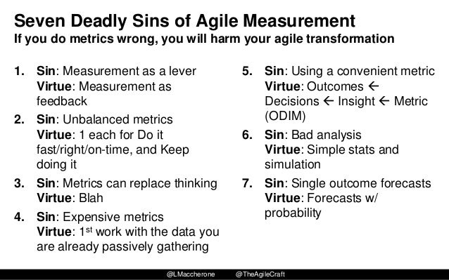 "7 deadly sins of performance measurement The seven deadly sins in measuring asset reliability 1 the seven deadly sins in measuring asset reliability by ricky smith, cmrp ""the problem w ith management is they're measuring the w rong things."
