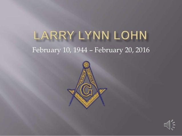 February 10, 1944 – February 20, 2016