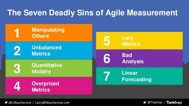 7 deadly sins of performance measurement