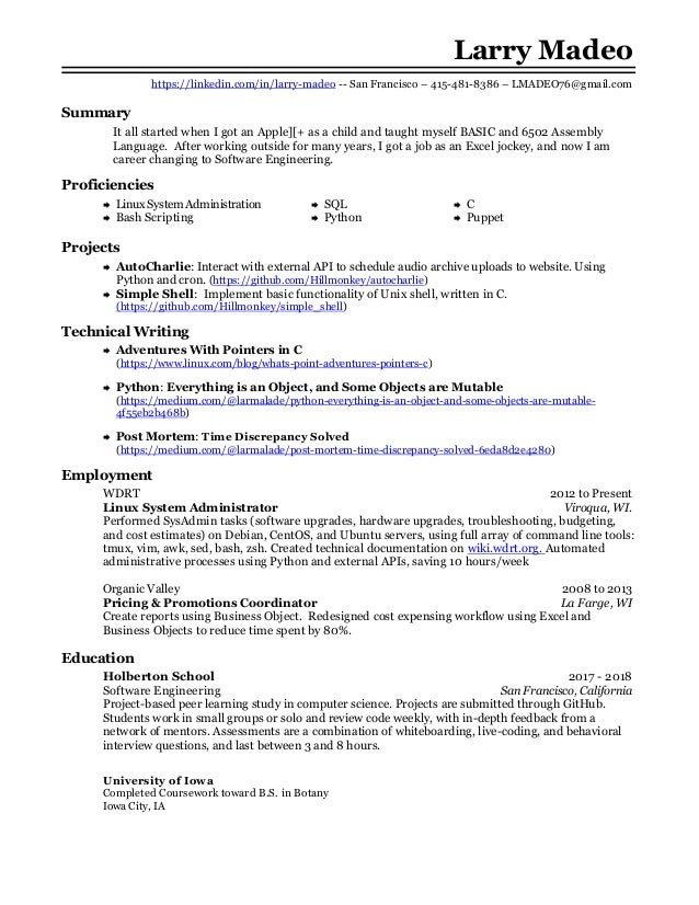 Larry madeo resume dev ops-backend