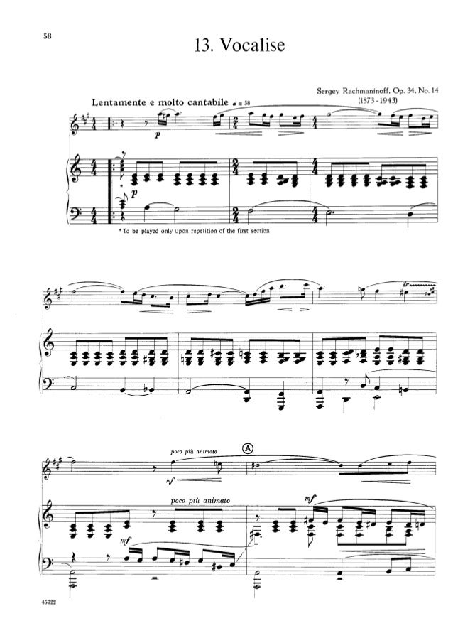 All Music Chords rachmaninoff sheet music : Larry teal - solos for the alto saxophone player