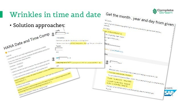 Wrinkles in time and date • Solution approaches: