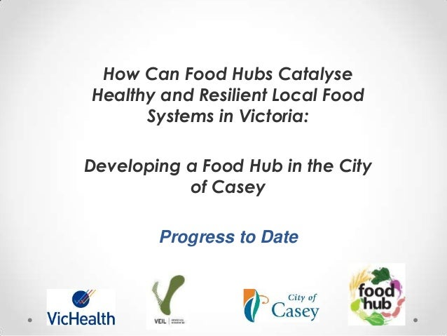 How Can Food Hubs Catalyse Healthy and Resilient Local Food Systems in Victoria: Developing a Food Hub in the City of Case...