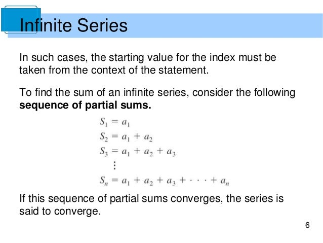 Calculate the sum of a convergent series : Nothings going to stop us