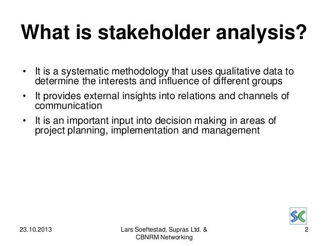 Stakeholder Analysis, An Analytical Tool In The Implementation, Manag…