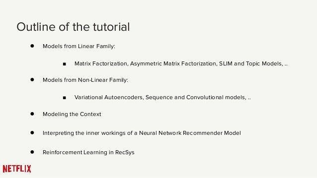 Tutorial on Deep Learning in Recommender System, Lars summer school 2019 Slide 2
