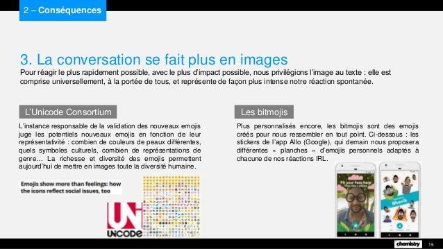 3. La conversation se fait plus en images Pour réagir le plus rapidement possible, avec le plus d'impact possible, nous pr...