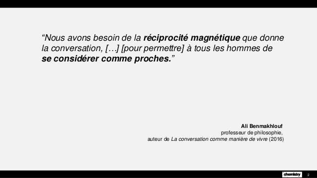 """Ali Benmakhlouf professeur de philosophie, auteur de La conversation comme manière de vivre (2016) 2 """"Nous avons besoin de..."""