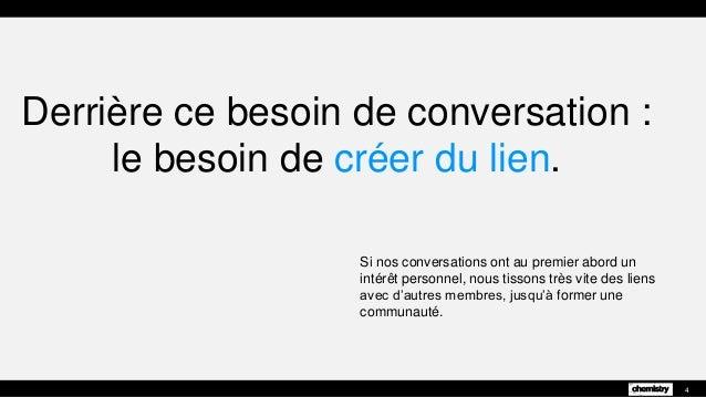 Derrière ce besoin de conversation : le besoin de créer du lien. Si nos conversations ont au premier abord un intérêt pers...