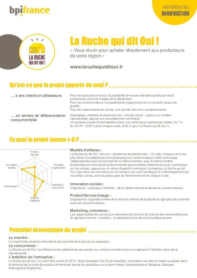 RÉFÉRENTIEL INNOVATION Qu'est-ce que le projet apporte de neuf ? En quoi le projet innove-t-il ? Potentiel économique du p...