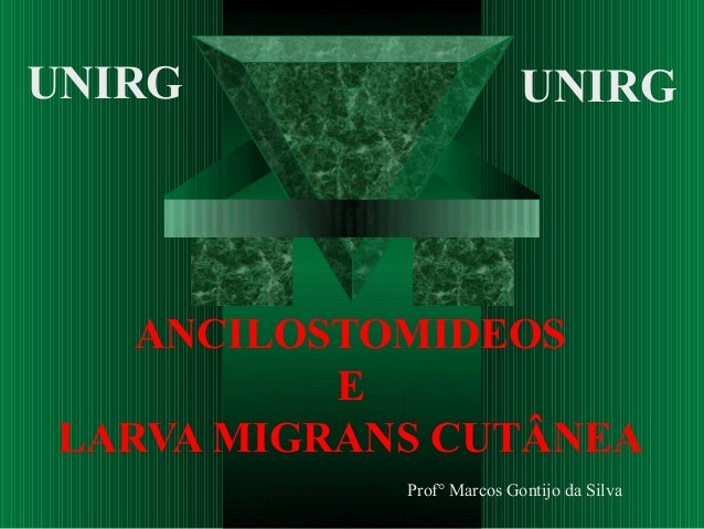 ANCILOSTOMIDEOS E LARVA MIGRANS CUTÂNEA Prof° Marcos Gontijo da Silva UNIRG UNIRG