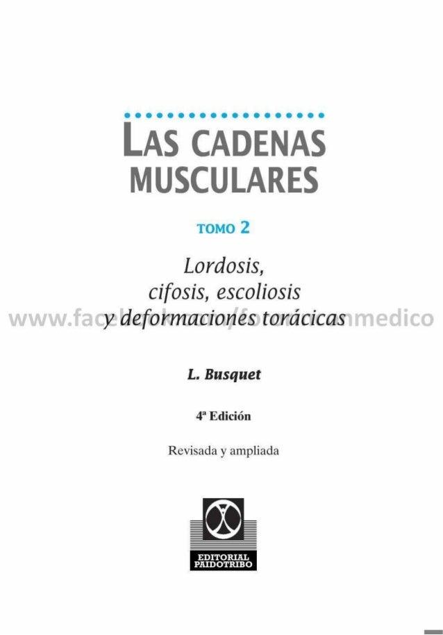 Las cadenas musculares tomo 2 de Busquet
