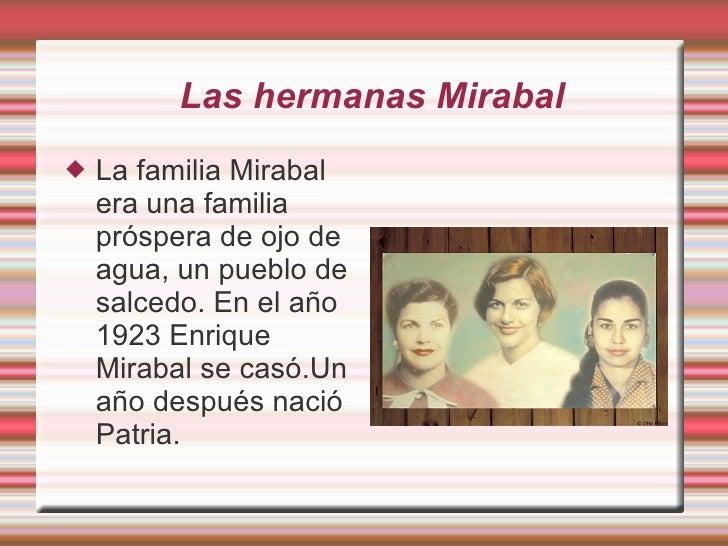 Las Hermans Mirabal Fran 5º Y Paula O