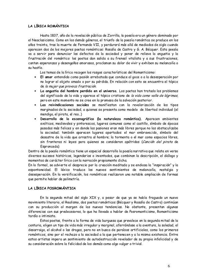 6  LA LÍRICA ROMÁNTICA  Hasta 1837, año de la revelación pública de Zorrilla, la poesía era un género dominado por  el Neo...