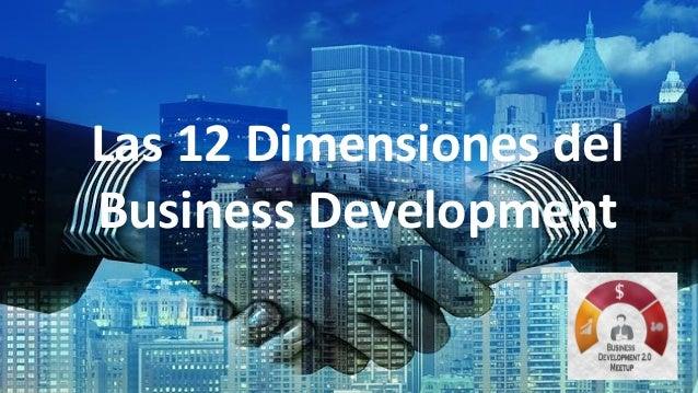 Las 12 Dimensiones del Business Development