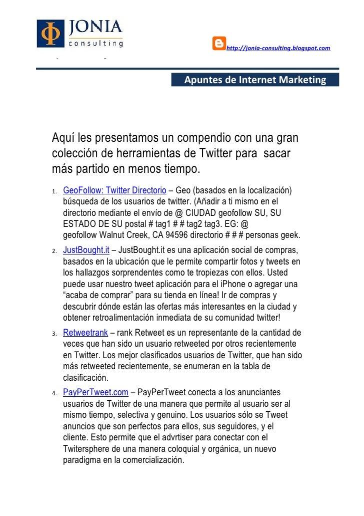 Las 150 aplicaciones más útiles para sacar partido a twitter Slide 2