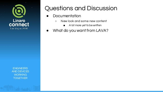 LAS16-107: LAVA Users Forum