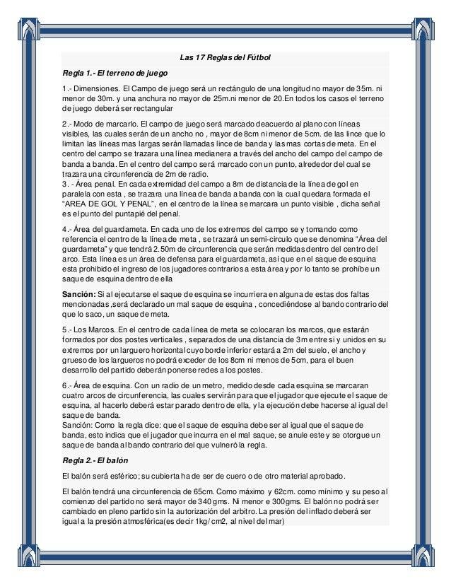 Las 17 reglas del f tbol for Regla fuera de juego futbol