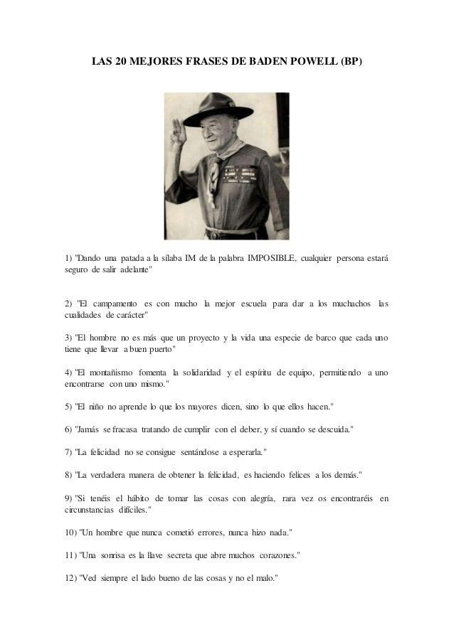 Las 20 Mejores Frases De Baden Powell