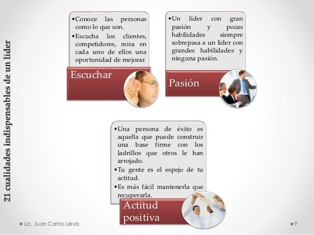 •Conoce las personas como lo que son. •Escucha los clientes, competidores, mira en cada uno de ellos una oportunidad de me...