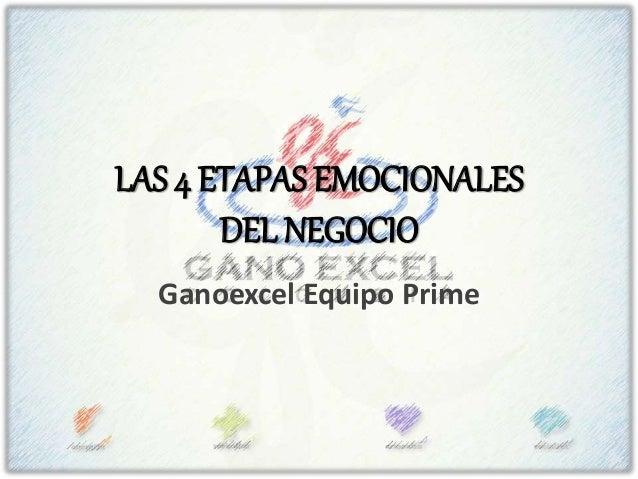 LAS 4 ETAPAS EMOCIONALES DEL NEGOCIO Ganoexcel Equipo Prime