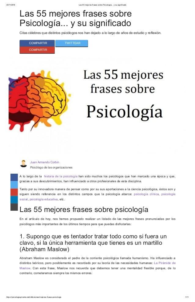 Las 55 Mejores Frases Sobre Psicología
