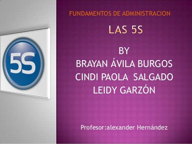 BY BRAYAN ÁVILA BURGOS CINDI PAOLA SALGADO LEIDY GARZÓN Profesor:alexander Hernández FUNDAMENTOS DE ADMINISTRACION