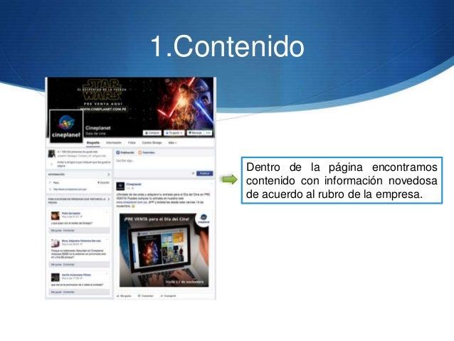 1.Contenido Dentro de la página encontramos contenido con información novedosa de acuerdo al rubro de la empresa.