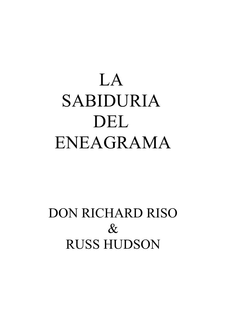 LA SABIDURIA    DELENEAGRAMADON RICHARD RISO       &  RUSS HUDSON