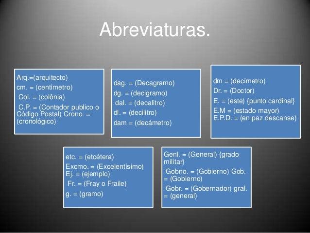 Las abreviaturas - Abreviatura de arquitecto ...