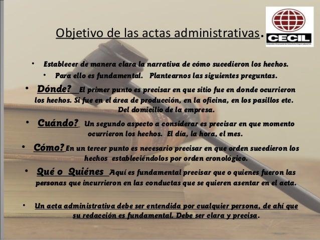Las Actas Administrativas