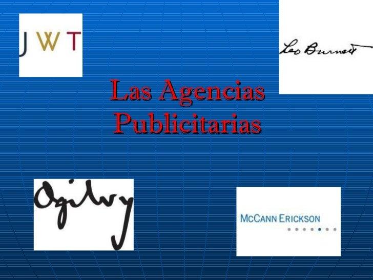 Las Agencias Publicitarias
