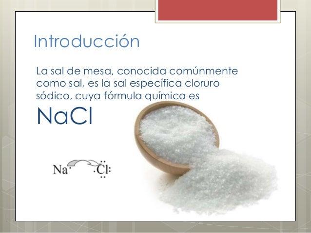 La sal for La quimica de la cocina