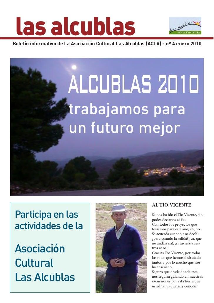 las alcublasBoletín informativo de La Asociación Cultural Las Alcublas (ACLA) - nº 4 enero 2010                        ALC...