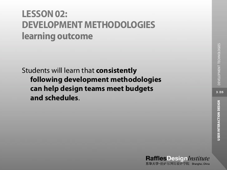Interaction Design and Development Technologies Slide 3