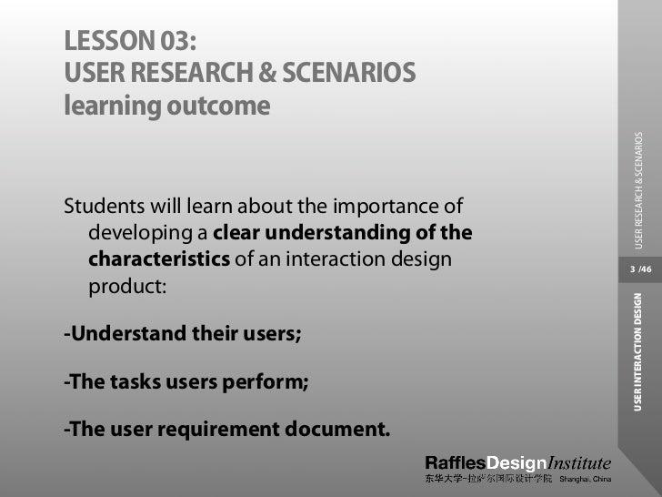 User Research and Scenarios Slide 3