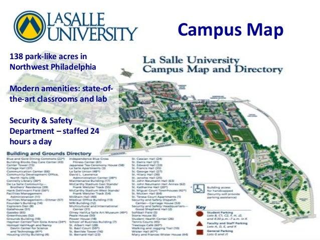 La Salle Campus Map La Salle University Philadelphia Campus Map | Map Of Us Western States