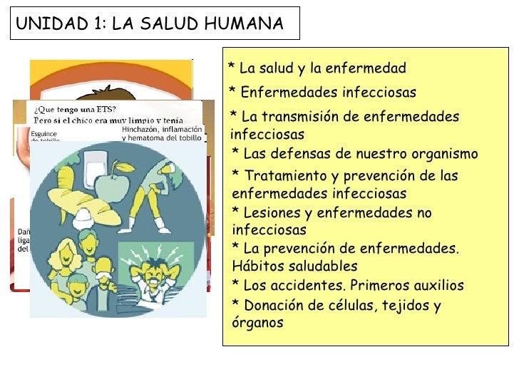 * La salud y la enfermedad * Enfermedades infecciosas * La transmisión de enfermedades infecciosas * Las defensas de nuest...