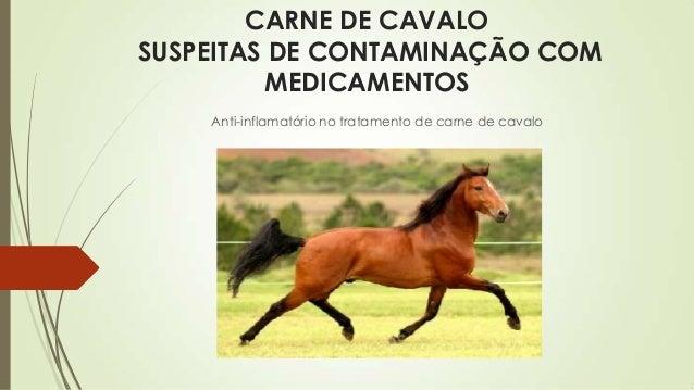 CARNE DE CAVALO SUSPEITAS DE CONTAMINAÇÃO COM MEDICAMENTOS Anti-inflamatório no tratamento de carne de cavalo