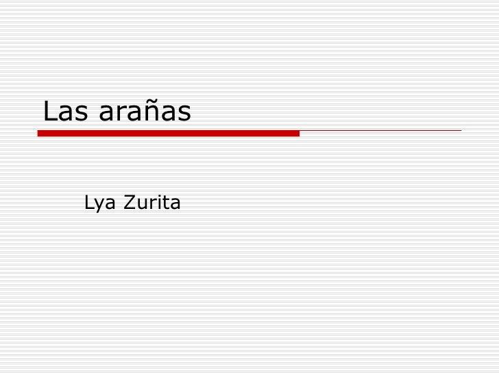 Las arañas Lya Zurita