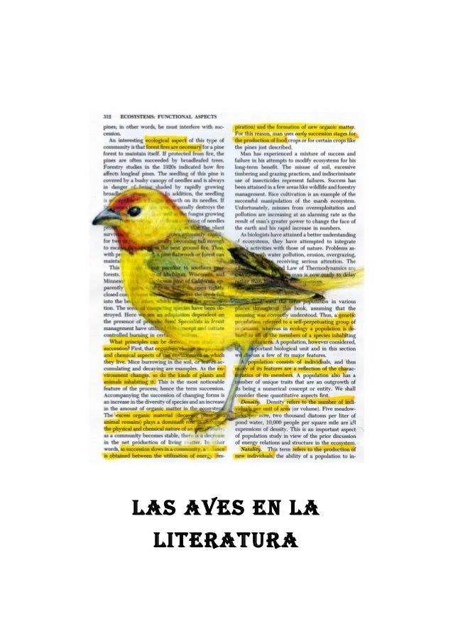 LAS AVES EN LA LITERATURA