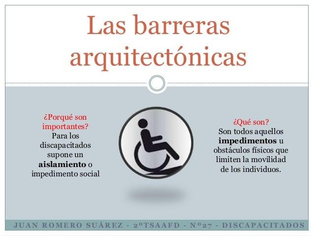 Las barreras arquitect nicas for Barreras arquitectonicas