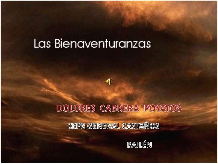 DOLORES  CABRERA  POYATOS<br />CEPR GENERAL CASTAÑOS<br />BAILÉN<br />