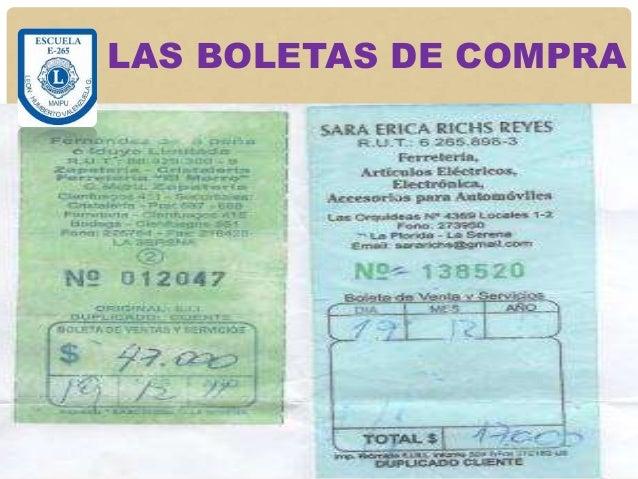 LAS BOLETAS DE COMPRA