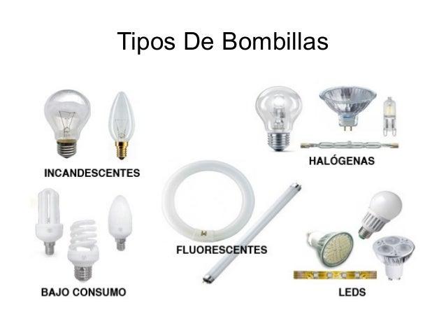 Tipos de bombillas y sus caracteristicas