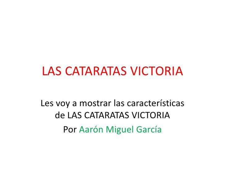 LAS CATARATAS VICTORIA<br />Les voy a mostrar las características de LAS CATARATAS VICTORIA<br />Por Aarón Miguel García<b...