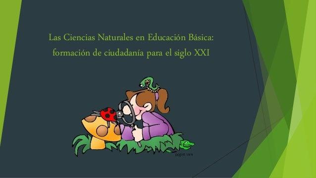 Las Ciencias Naturales en Educación Básica: formación de ciudadanía para el siglo XXI