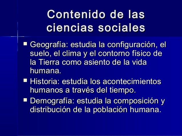 Las Ciencias Sociales En El Mundo Contemporaneo 1