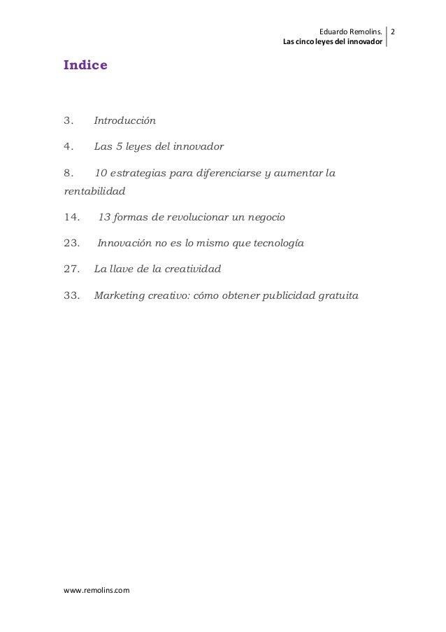 Las cinco leyes del innovador Slide 2