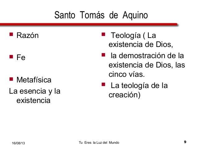 Las Cinco Vías Demonstraciòn De La Existencia De Dios Santo